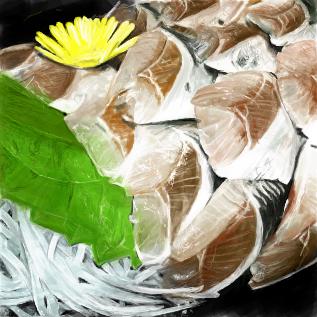秋刀魚の刺し身