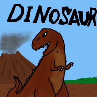 ティラノサウルス旧復元図