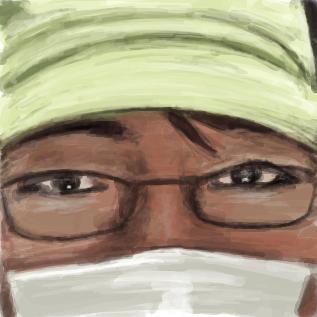 絵師近影(撮影:はくはく)