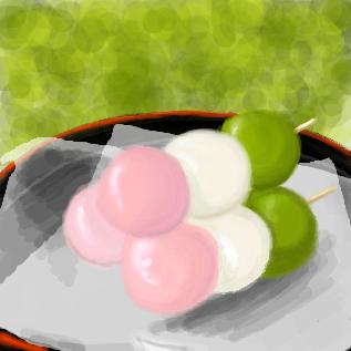 三色だんご