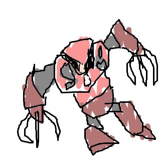 左手で赤蟹