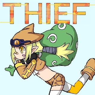 逃亡する盗人
