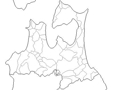 青森県白地図