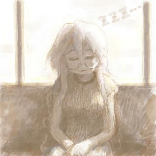 電車でうたた寝みゆきさん
