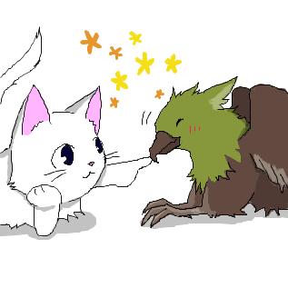 猫とグリフォン