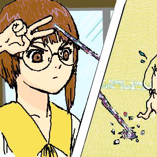 コスプレイン「別に眼鏡描きたいから選んだわk(」ビーム!!