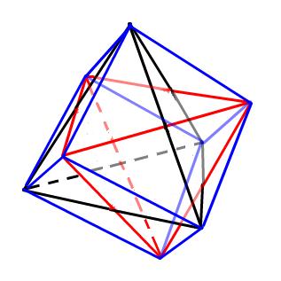 正十六胞体の投影図です。