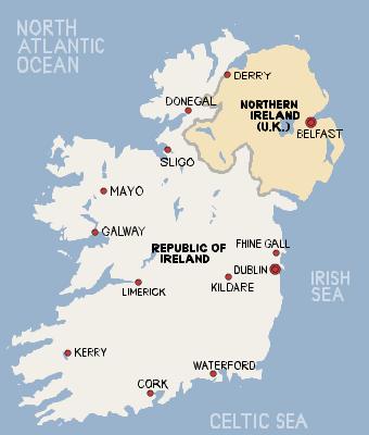 アイルランドMAP