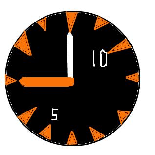 競艇で使われる大時計のイメージ
