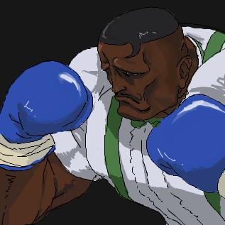 拳闘紳士ダッドリー「Gutter trash !!」
