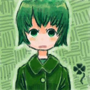 緑っぽい人