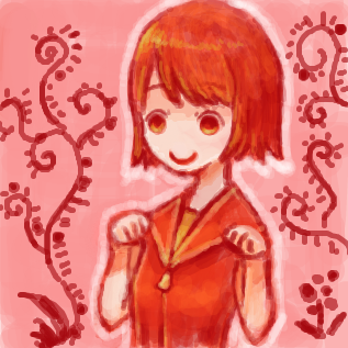赤っぽい人