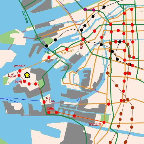 インテックス大阪への地図