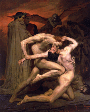 Dante And Virgil In Hell(1850)