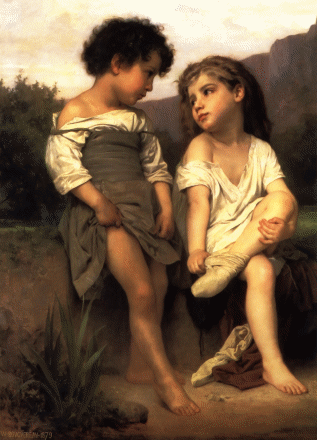 At the Edge of the Brook (1879)