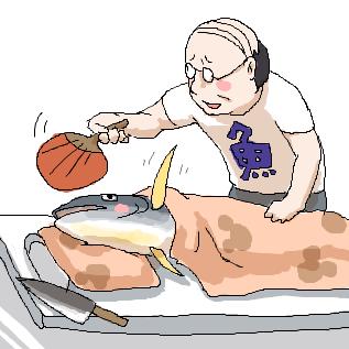魚なのに無理をするからだよ☆