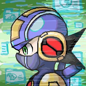 戦闘中のロックマンEXE