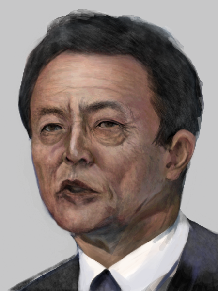 (゚⊿゚) の顔文字で親しまれる麻生太郎 by ID: ooWdtw/8FJ らくがきスレ#7869