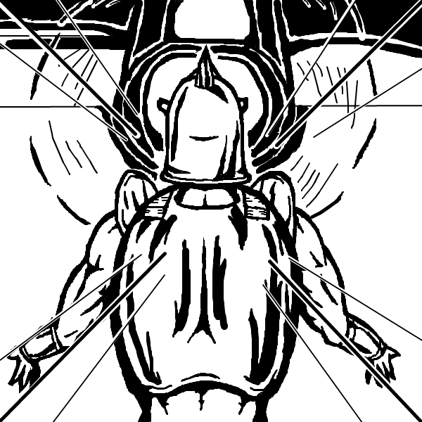 グランドキャニオン戦で墜落する飛行機を前にしたロビンマスク