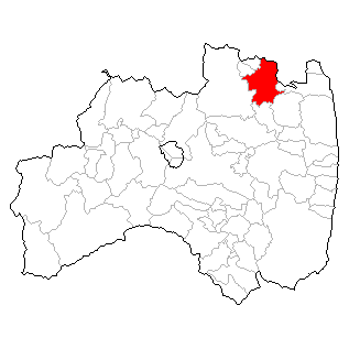 福島県伊達市の位置
