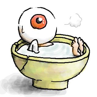 目玉おやじ 茶碗風呂入浴中 by ないちゃん 目玉おやじスレ#2