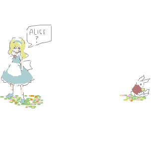 アリス&白ウサギ
