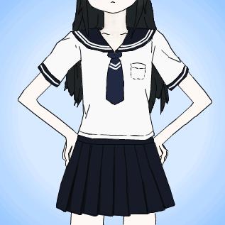 札幌襟のセーラー服
