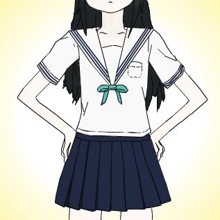 関東襟のセーラー服