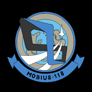 """ISAF空軍第118戦術航空隊""""メビウス隊""""部隊章"""