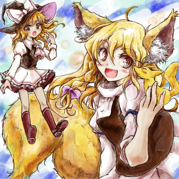 茨歌仙バージョン魔理沙と狐