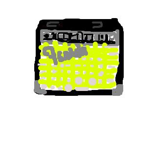 フェンダー社 ギターアンプ (絵師さん手直しお願いします)