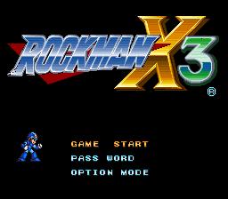 ロックマン X3 タイトル画面
