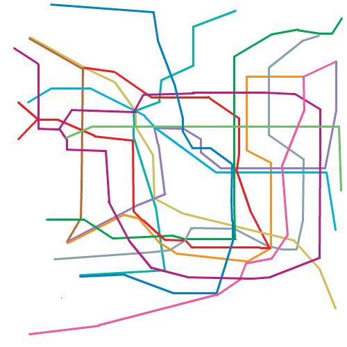 東京の地下鉄路線図