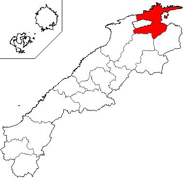 島根県における松江市の位置