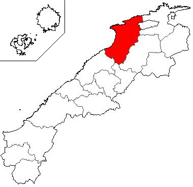 島根県における出雲市の位置