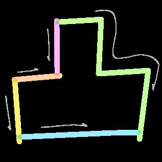 凸の筆順1