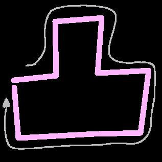凸の筆順(ジョーク)