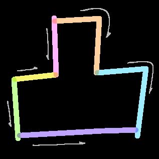 凸の筆順4