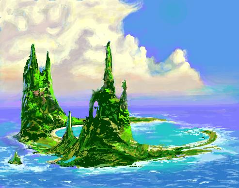 島(Magic:The Gathering・ウル... 島(しま)とは、全方位を水に囲まれた地形