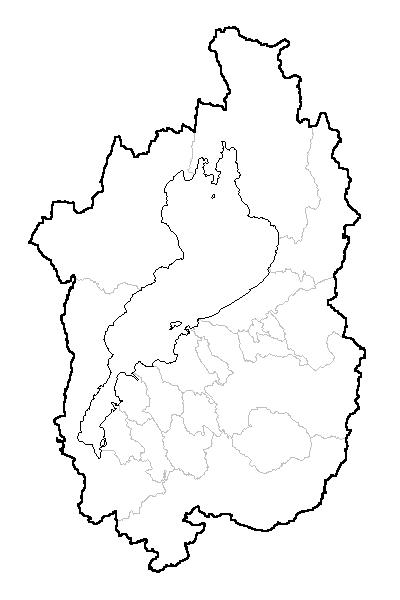 滋賀県白地図