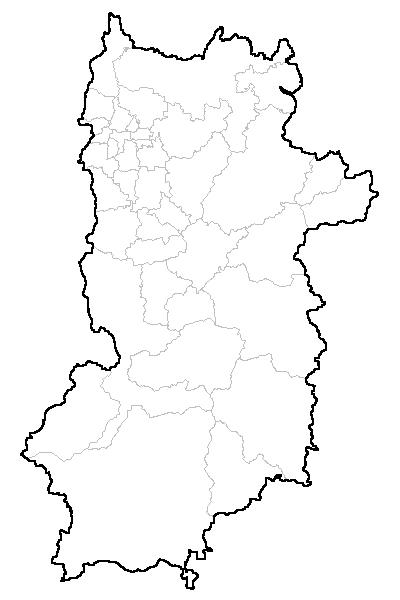 奈良県 白地図