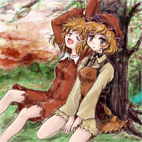 ちょっとだけ寝坊した秋姉妹