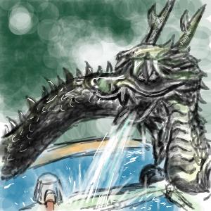 お手水の竜