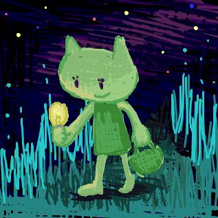 電球とネコ