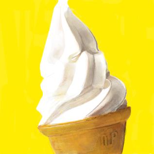 ソフトクリームの模写