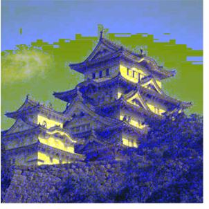事件現場となった姫路城