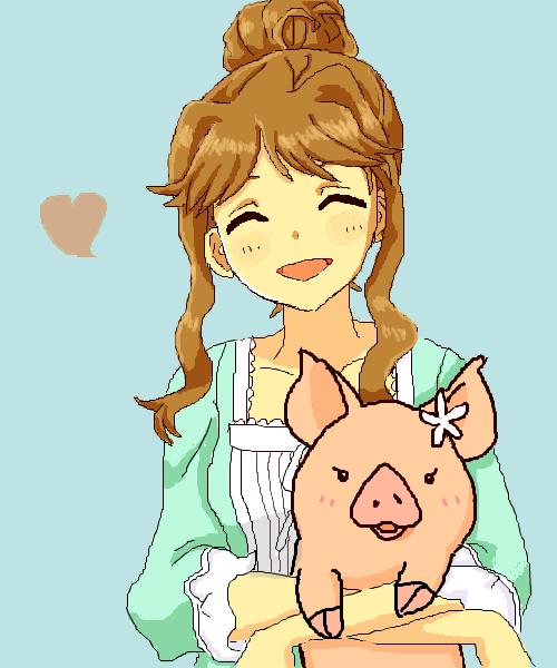 朋花と子豚