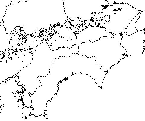 四国白地図