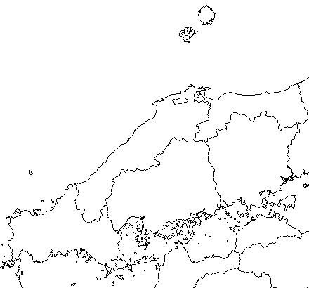 中国地方白地図