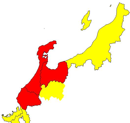 北陸の範囲